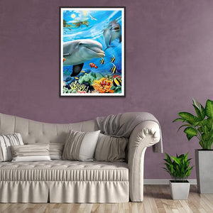 Diamond Painting - Full Round - Freedom Fish World