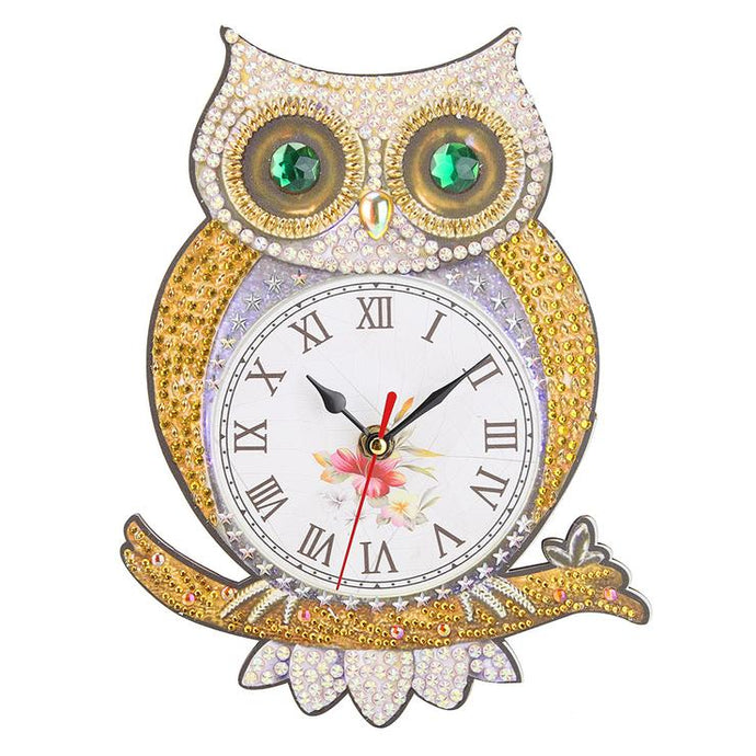 DIY Owl Special Shaped Diamond Painting Clock