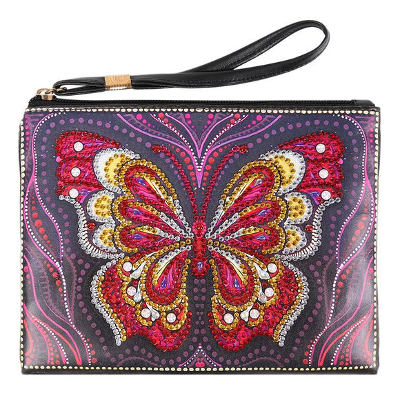 DIY Butterfly Special Shaped Diamond Painting Wristlet Wallet
