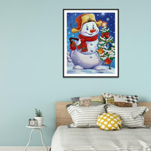 Load image into Gallery viewer, Diamond Painting - Full Round - Happy Snowman
