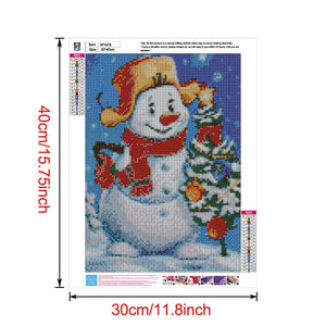 Diamond Painting - Full Round - Happy Snowman