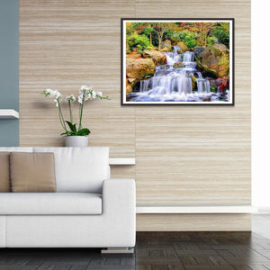 Diamond Painting - Full Round - Beautiful Waterfall