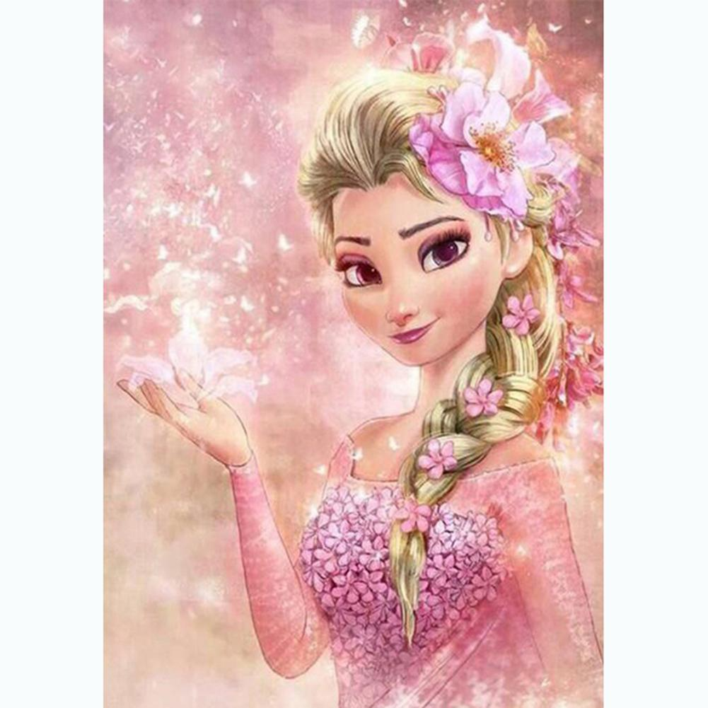 Diamond Painting - Full Round - Pink Elsa