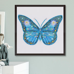 Diamond Painting - Crystal Rhinestone - Blue Butterfly