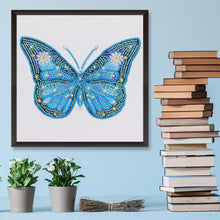 Load image into Gallery viewer, Diamond Painting - Crystal Rhinestone - Blue Butterfly