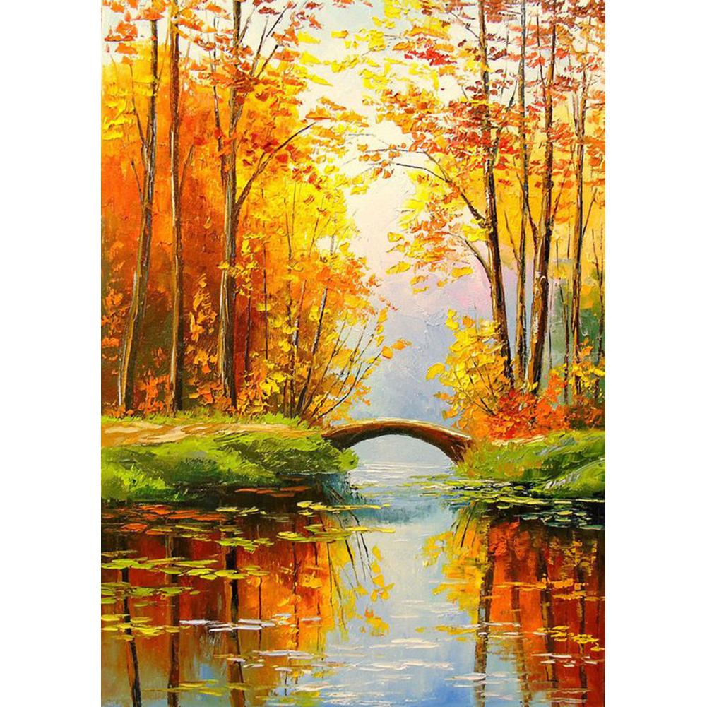 Diamond Painting - Full Round - Forest Bridge