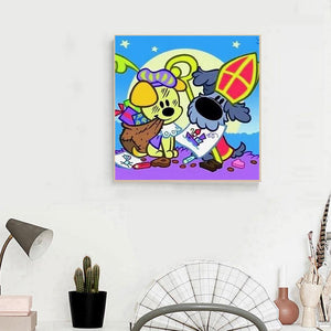 Diamond Painting - Full Round - Cartoon Dog