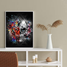 Load image into Gallery viewer, Diamond Painting - Full Round - Skull Tiger
