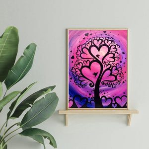 Diamond Painting - Full Round - Heart Tree