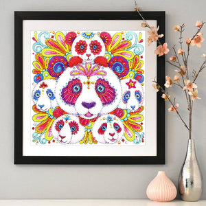 Diamond Painting - Crystal Rhinestone - Cute Panda