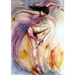 Diamond Painting - Full Round - Dancing Girl