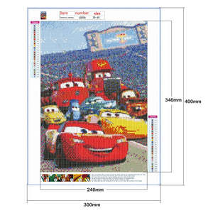 Diamond Painting - Full Round - Racing Cars