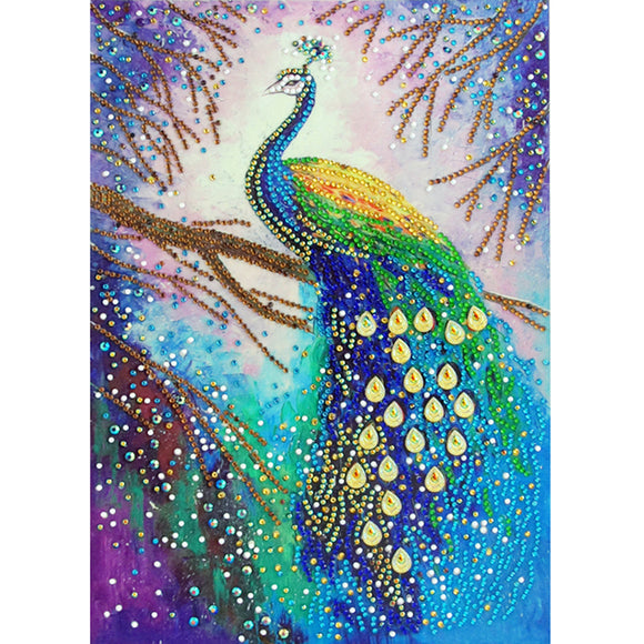 Diamond Painting - Crystal Rhinestone - Peacock