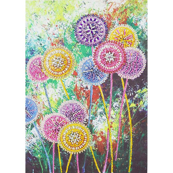 Diamond Painting - Crystal Rhinestone - Dandelion