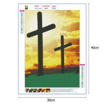 Load image into Gallery viewer, Diamond Painting - Full Round - Sunset Cross