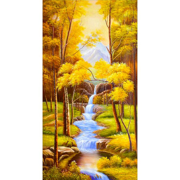 Diamond Painting - Full Round - Gold Tree River (100*55cm)