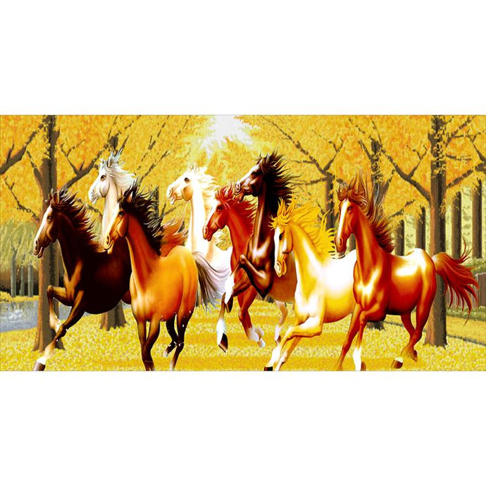 Diamond Painting- Full Round - Horses (100*55cm)