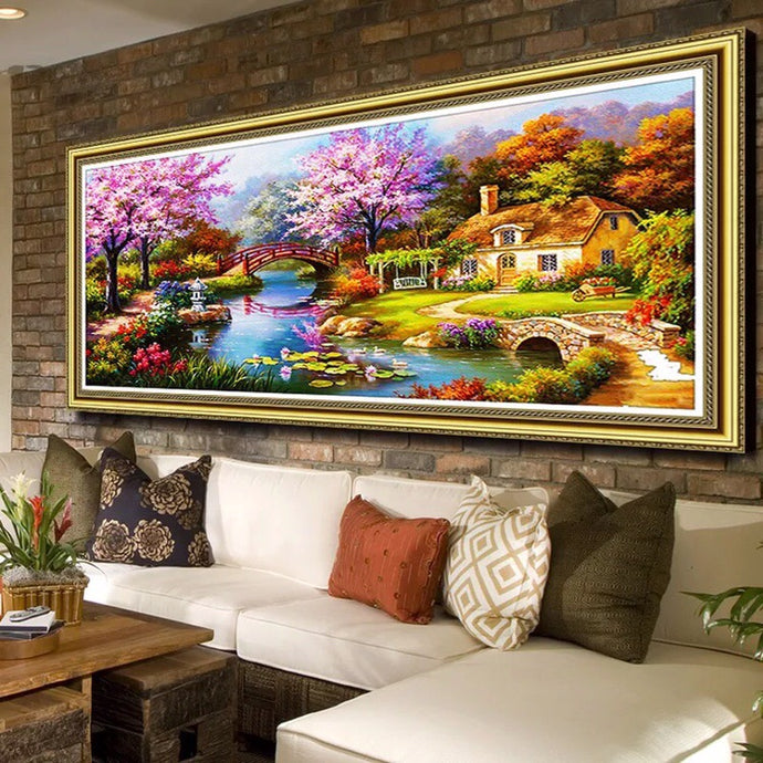 Diamond Painting - Full Round - Beautiful Garden (100*55cm)