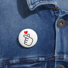 Load image into Gallery viewer, Finger Heart Buttons 1'' (5-pack)