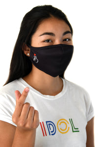 Antibacterial Cloth Face Mask, Finger Heart