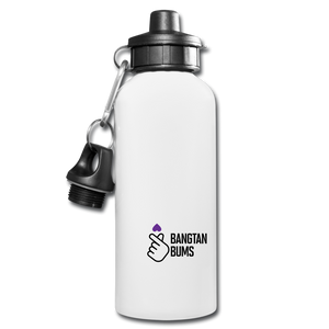 Bangtan Bums Water Bottle - white