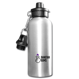 Bangtan Bums Water Bottle - silver