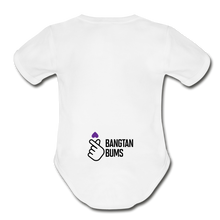 Load image into Gallery viewer, Organic Short Sleeve Baby Bodysuit, Bangtan Bums - white