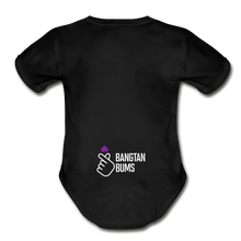 Load image into Gallery viewer, Organic Short Sleeve Baby Bodysuit, Bangtan Bums - black