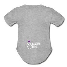 Load image into Gallery viewer, Organic Short Sleeve Baby Bodysuit, Bangtan Bums - heather gray