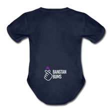 Load image into Gallery viewer, Organic Short Sleeve Baby Bodysuit, Bangtan Bums - dark navy