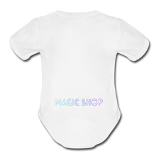 Load image into Gallery viewer, Organic Short Sleeve Baby Bodysuit, Magic Shop - white