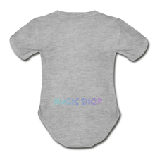 Load image into Gallery viewer, Organic Short Sleeve Baby Bodysuit, Magic Shop - heather gray
