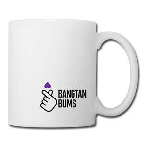 Coffee/Tea Mug, Finger Heart - white