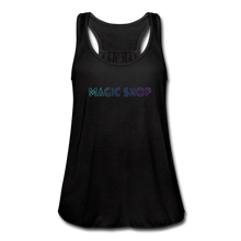 Load image into Gallery viewer, Women's Flowy Tank Top, Magic Shop - black