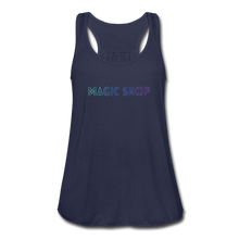 Load image into Gallery viewer, Women's Flowy Tank Top, Magic Shop - navy