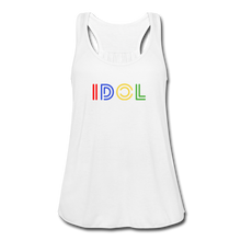 Load image into Gallery viewer, Women's Flowy Tank Top, IDOL - white