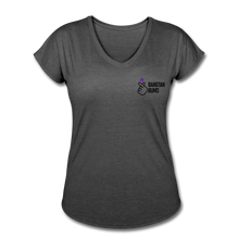 Load image into Gallery viewer, Women's Tri-Blend V-Neck T-Shirt - deep heather