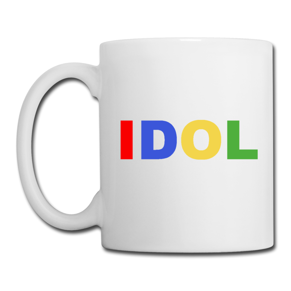 Coffee/Tea Mug, Bold IDOL - white