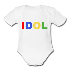 Load image into Gallery viewer, Organic Short Sleeve Baby Bodysuit, Bold IDOL - white