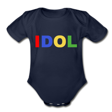 Load image into Gallery viewer, Organic Short Sleeve Baby Bodysuit, Bold IDOL - dark navy
