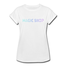 Load image into Gallery viewer, Women's Relaxed Fit T-Shirt, Magic Shop - white