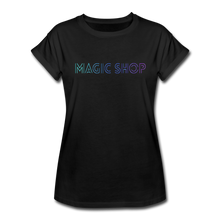 Load image into Gallery viewer, Women's Relaxed Fit T-Shirt, Magic Shop - black