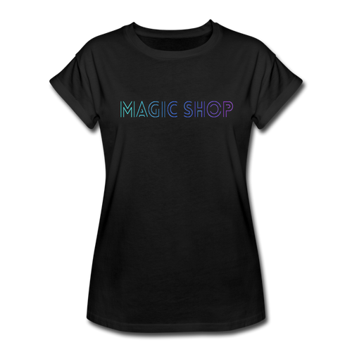 Women's Relaxed Fit T-Shirt, Magic Shop - black