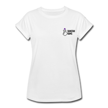 Load image into Gallery viewer, Women's Relaxed Fit T-Shirt, Bangtan Bums - white