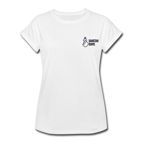 Women's Relaxed Fit T-Shirt, Bangtan Bums - white