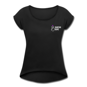 Women's Roll Cuff T-Shirt - black