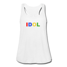 Load image into Gallery viewer, Women's Flowy Tank Top, Bold IDOL - white