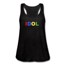 Load image into Gallery viewer, Women's Flowy Tank Top, Bold IDOL - black