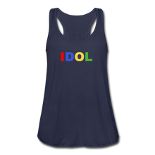 Load image into Gallery viewer, Women's Flowy Tank Top, Bold IDOL - navy