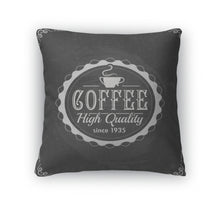 Load image into Gallery viewer, Throw Pillow, Coffee Label On Chalkboard - Coach Rock